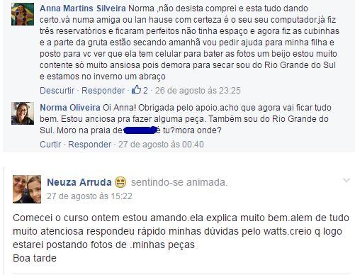 curso de cascata grande Lucila de Souza